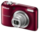 Φωτογραφική Nikon Coolpix L27 Red + Coolkit (Φορτιστής-Μπαταρίες-Θήκη)