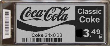 e-label με λογότυπο