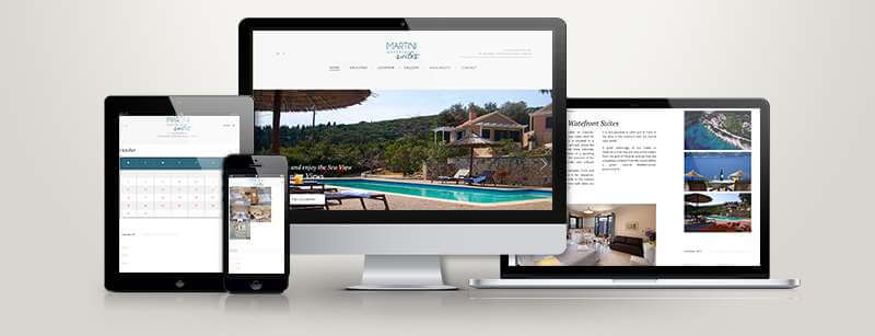 Δημοσίευση Ιστοσελίδας τουριστικών καταλυμάτων Fiskardo Villa Suites (Martini WaterFront)