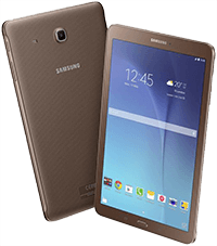 "Tablet Samsung Galaxy Tab E T560 9.6"" 8GB Brown"